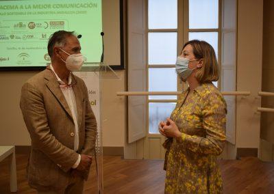 Miguel Montaño (Canal Sur) y Elena Martos (ABC)